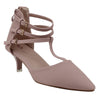 Pink Faux Leather Heels - SB-18024