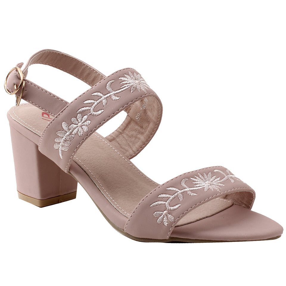 Pink Faux Leather Sandal - SB-18029