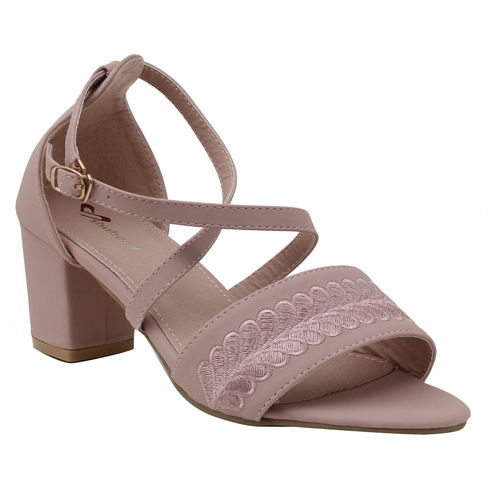 Pink Faux Leather Sandal - SB-18030