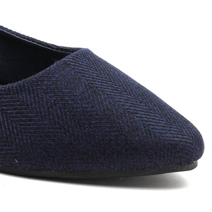 Navy Suede Bellies - SB-18036