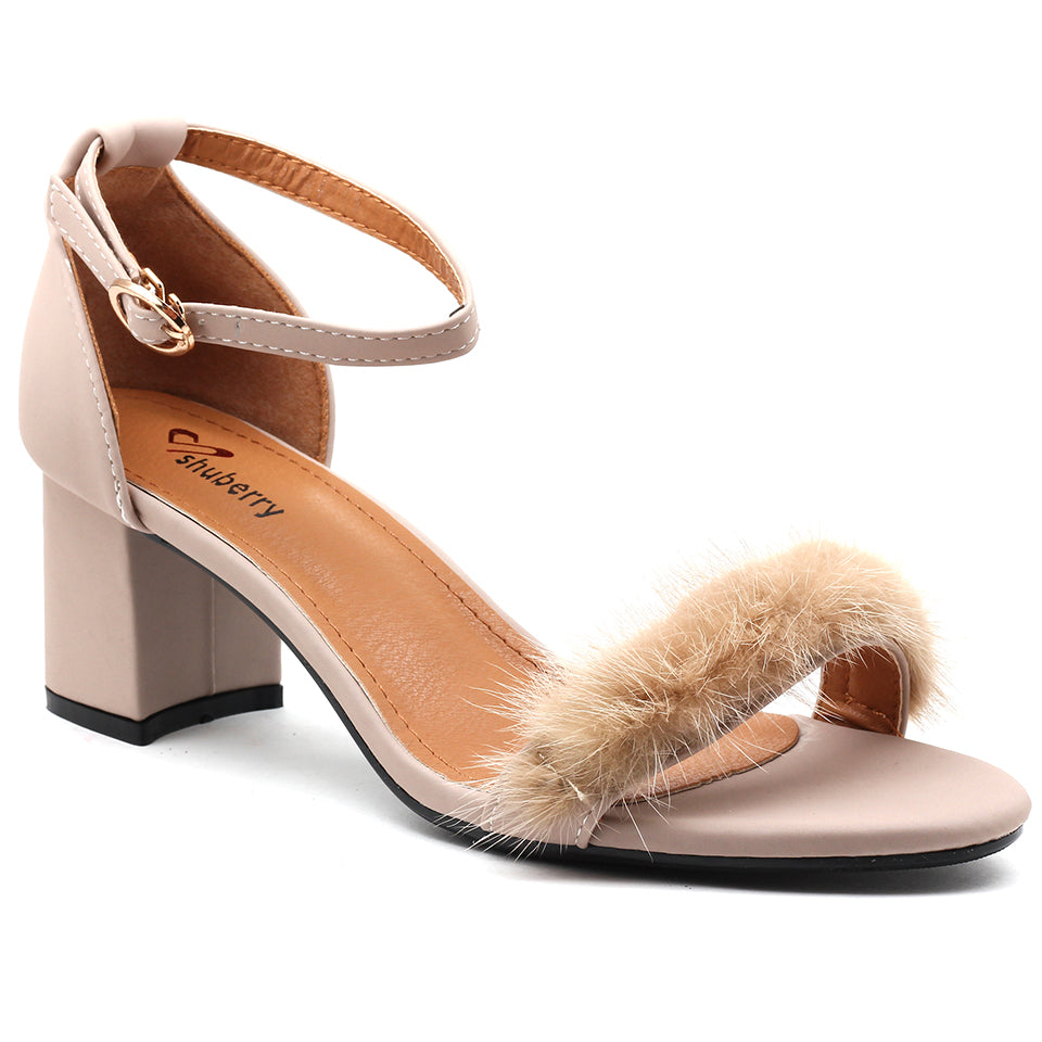 Beige Faux Leather Sandal - SB-18037