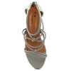 Grey Faux Leather Sandal - SB-18038