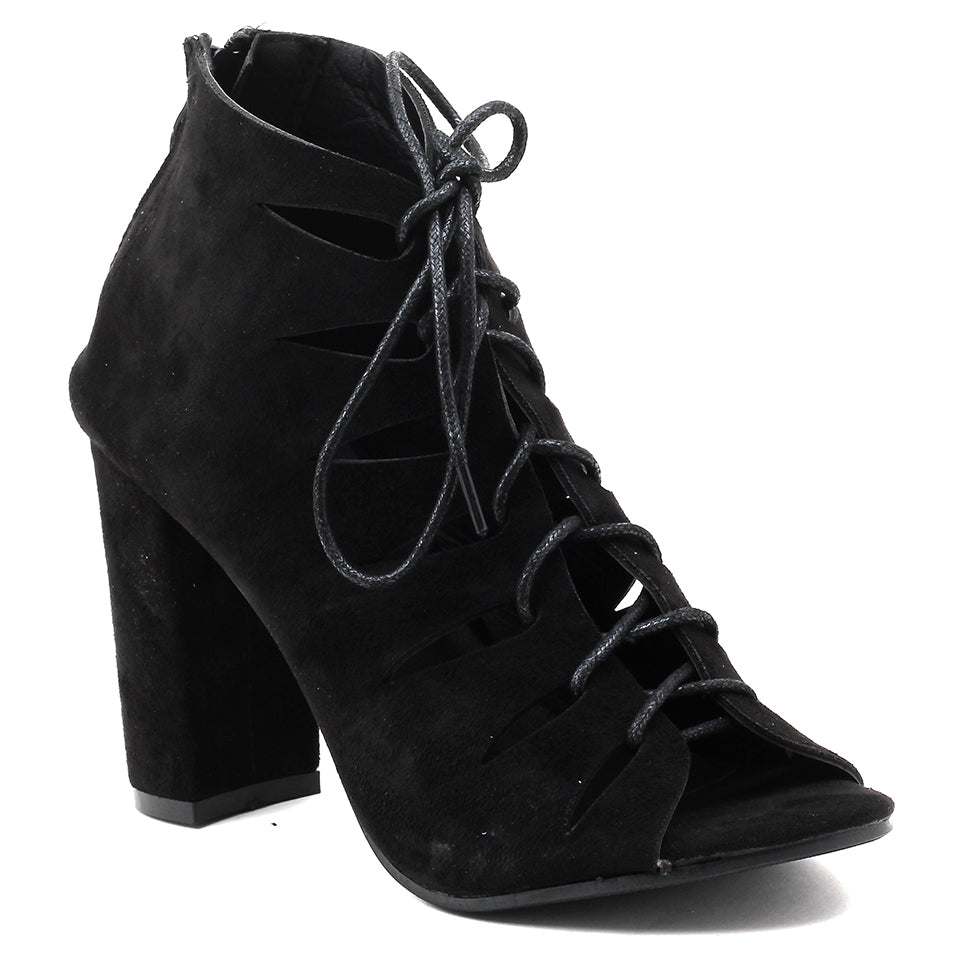 Black Suede Gladiator - SB-18067