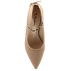Beige Faux Leather Heels - SB-18095