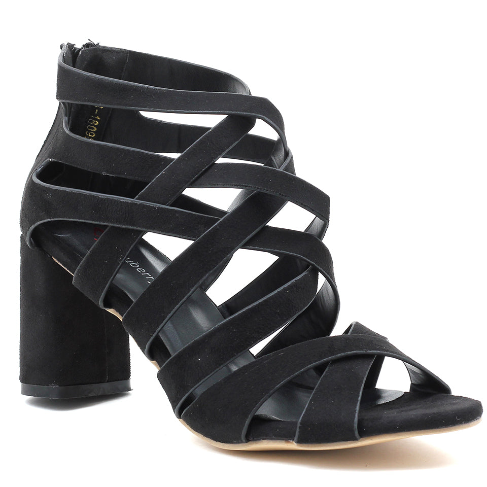 Black Suede Gladiator - SB-18098