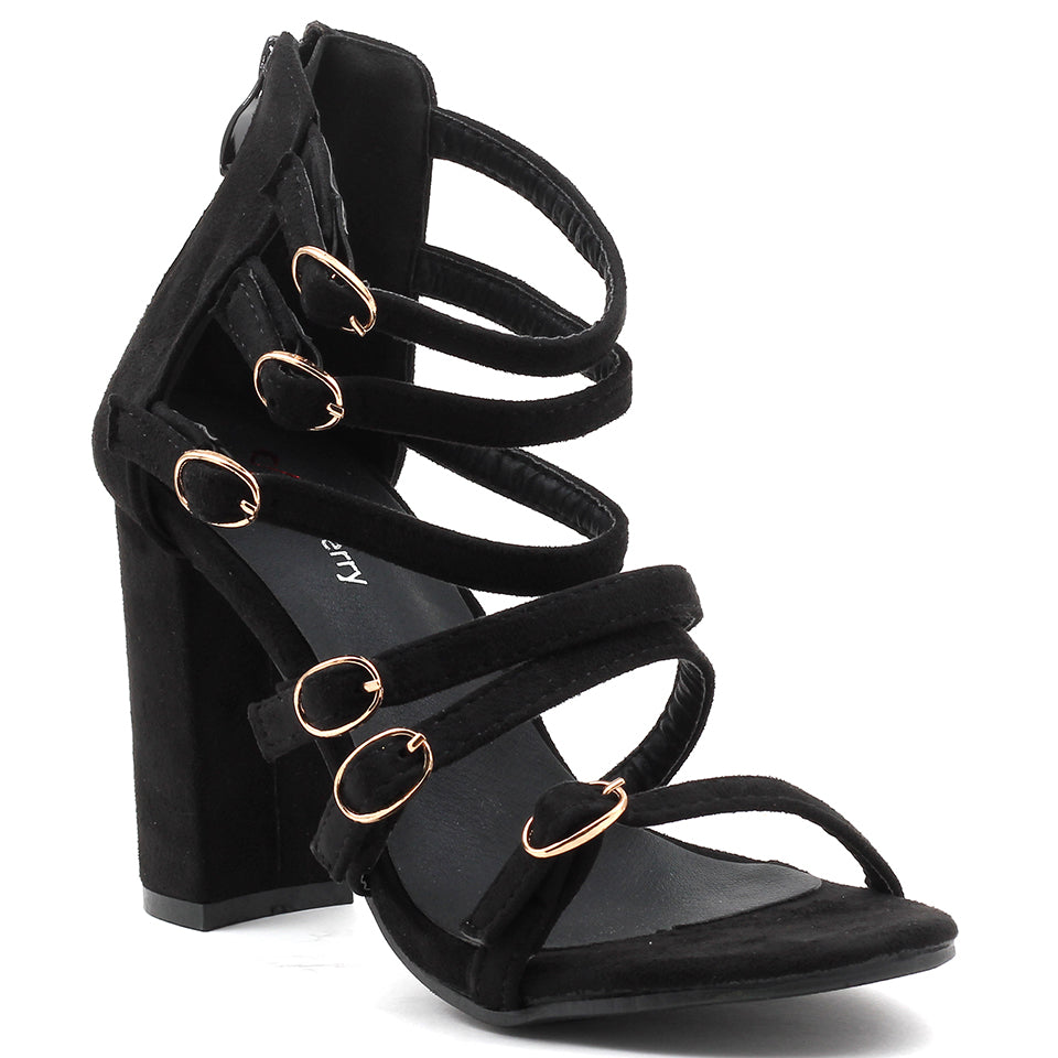 Black Suede Gladiator - SB-18102