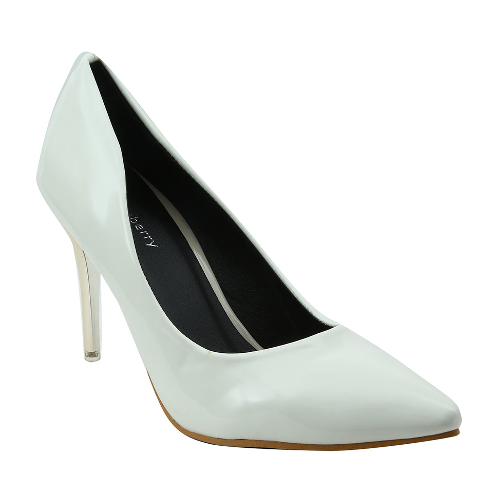 White Patent Pumps - SB-18105