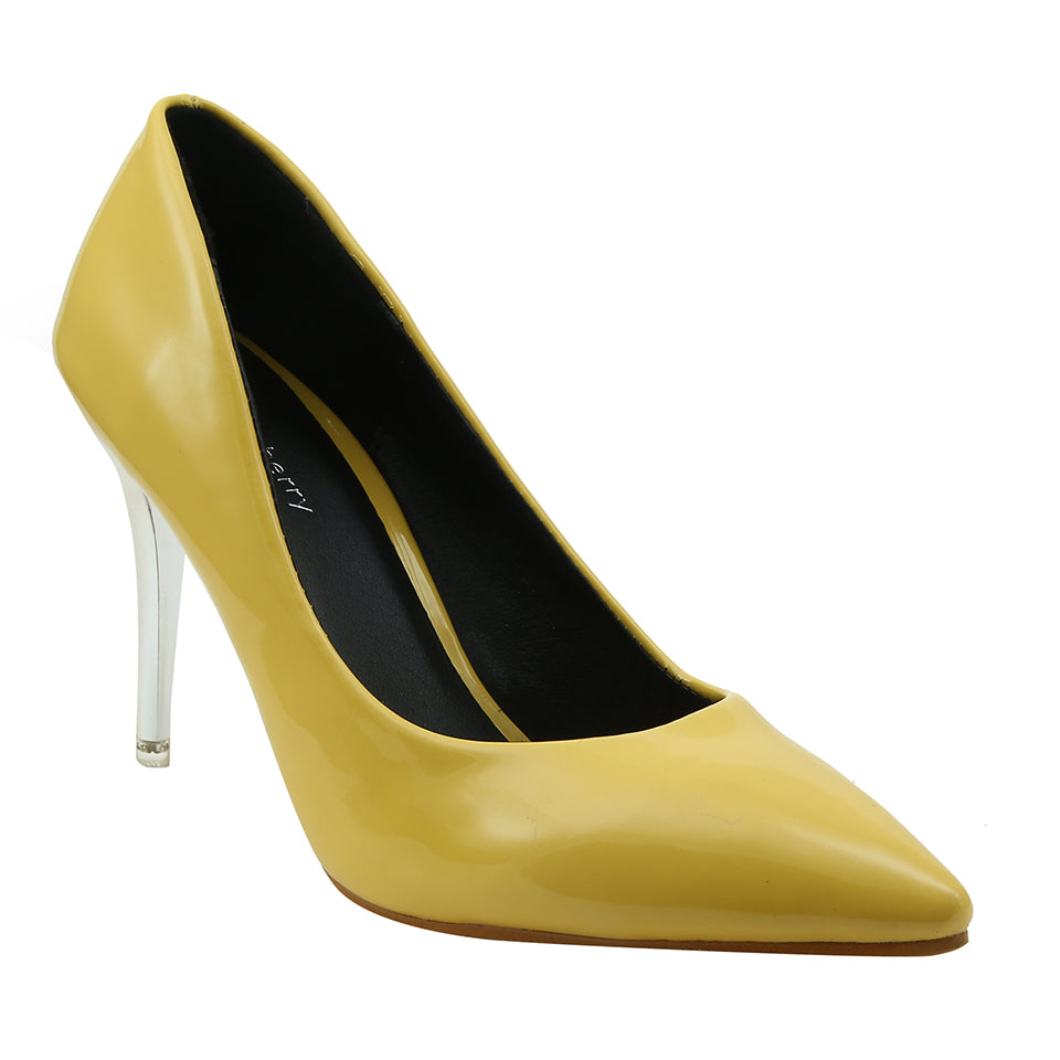 Yellow Patent Pumps - SB-18105