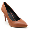 Tan Artificial Leather Pumps - SB-18108