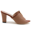 Khaki Artificial Leather Mule - SB-18117