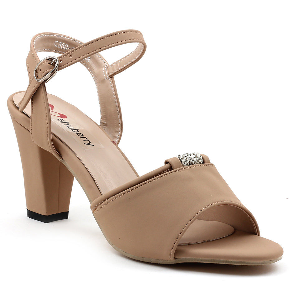 Beige Faux Leather Sandal - SB-18118