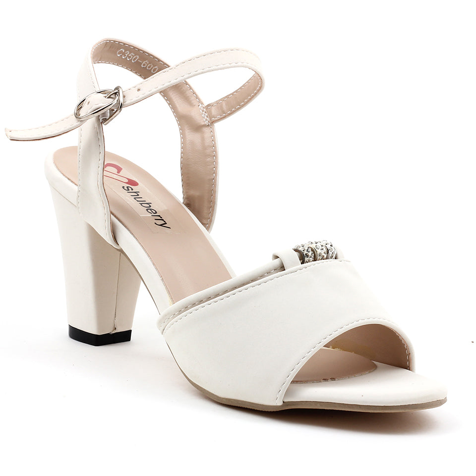 White Faux Leather Sandal - SB-18118