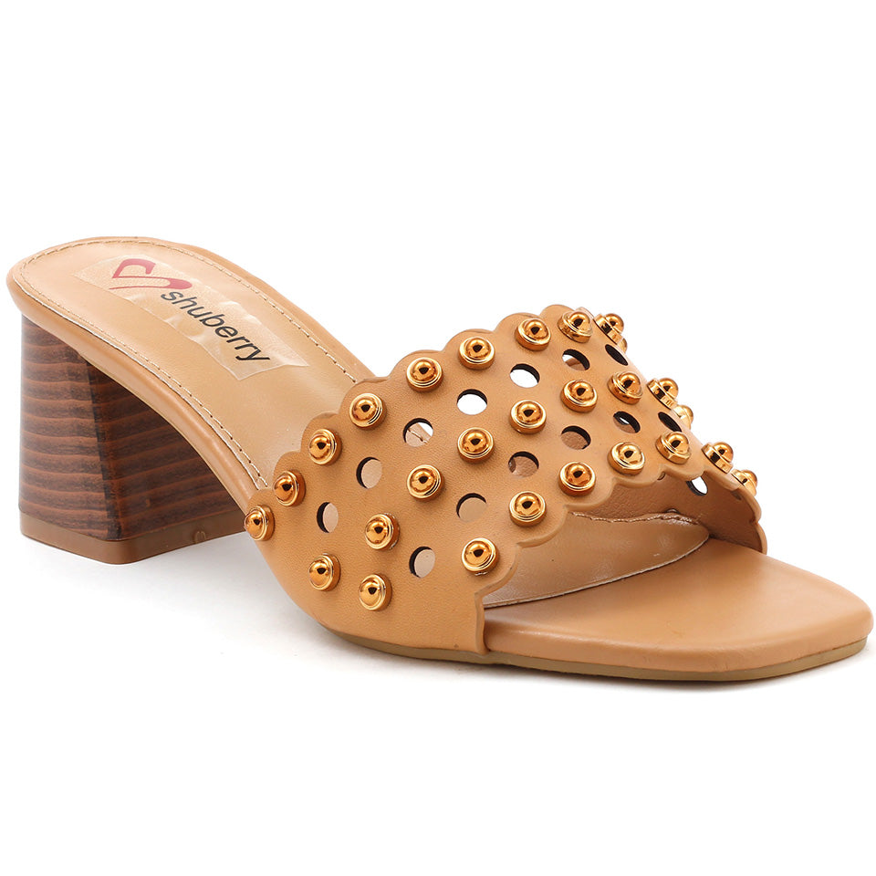 Beige Artificial Leather Sandal - SB-18119