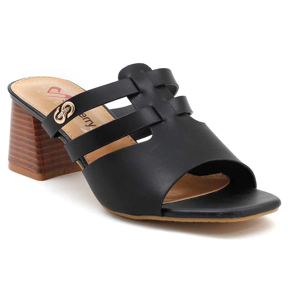 Black Artificial Leather Sandal - SB-18120