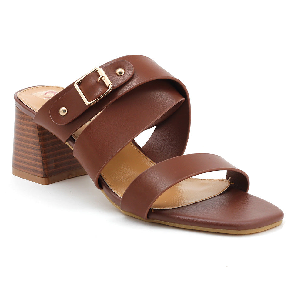 Brown Artificial Leather Sandal - SB-18121