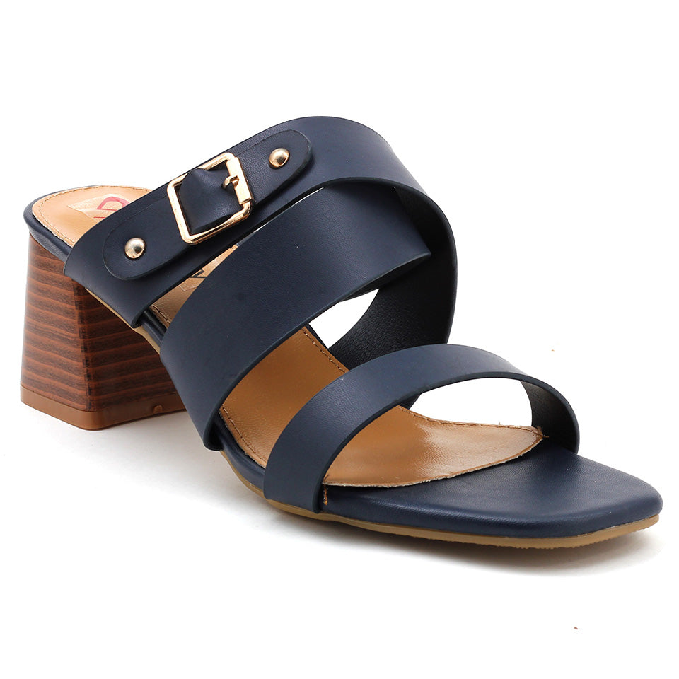 Navy Artificial Leather Sandal - SB-18121