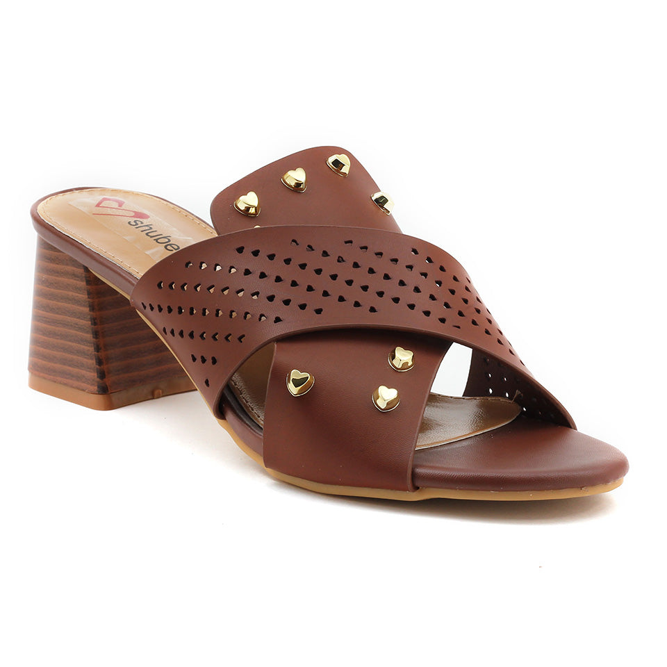 Brown Artificial Leather Sandal - SB-18122