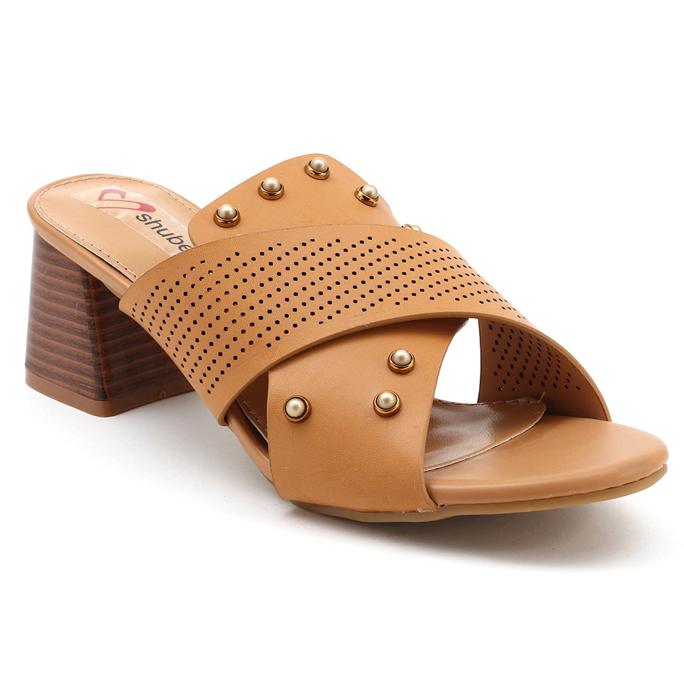 Beige Artificial Leather Sandal - SB-18123