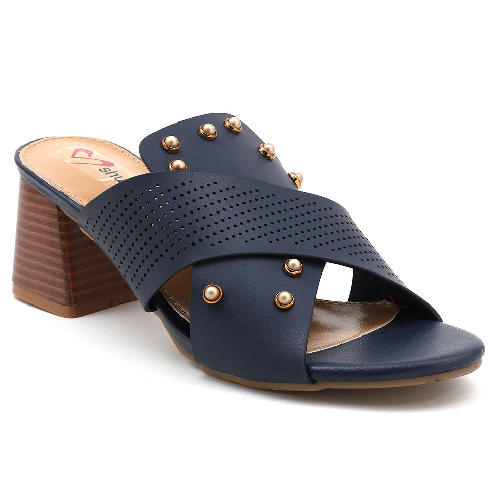 Navy Artificial Leather Sandal - SB-18123