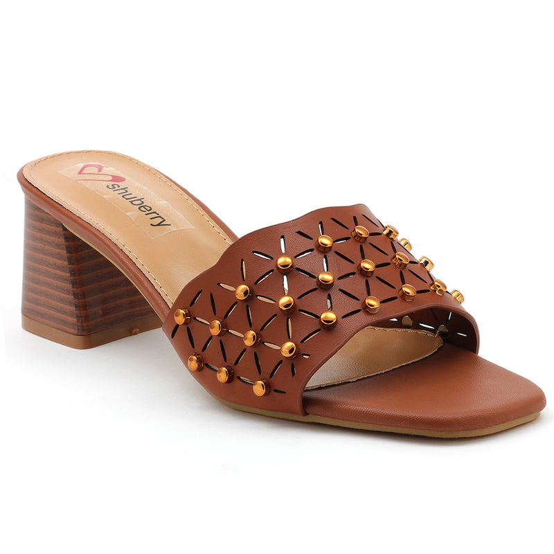 Brown Artificial Leather Sandal - SB-18124