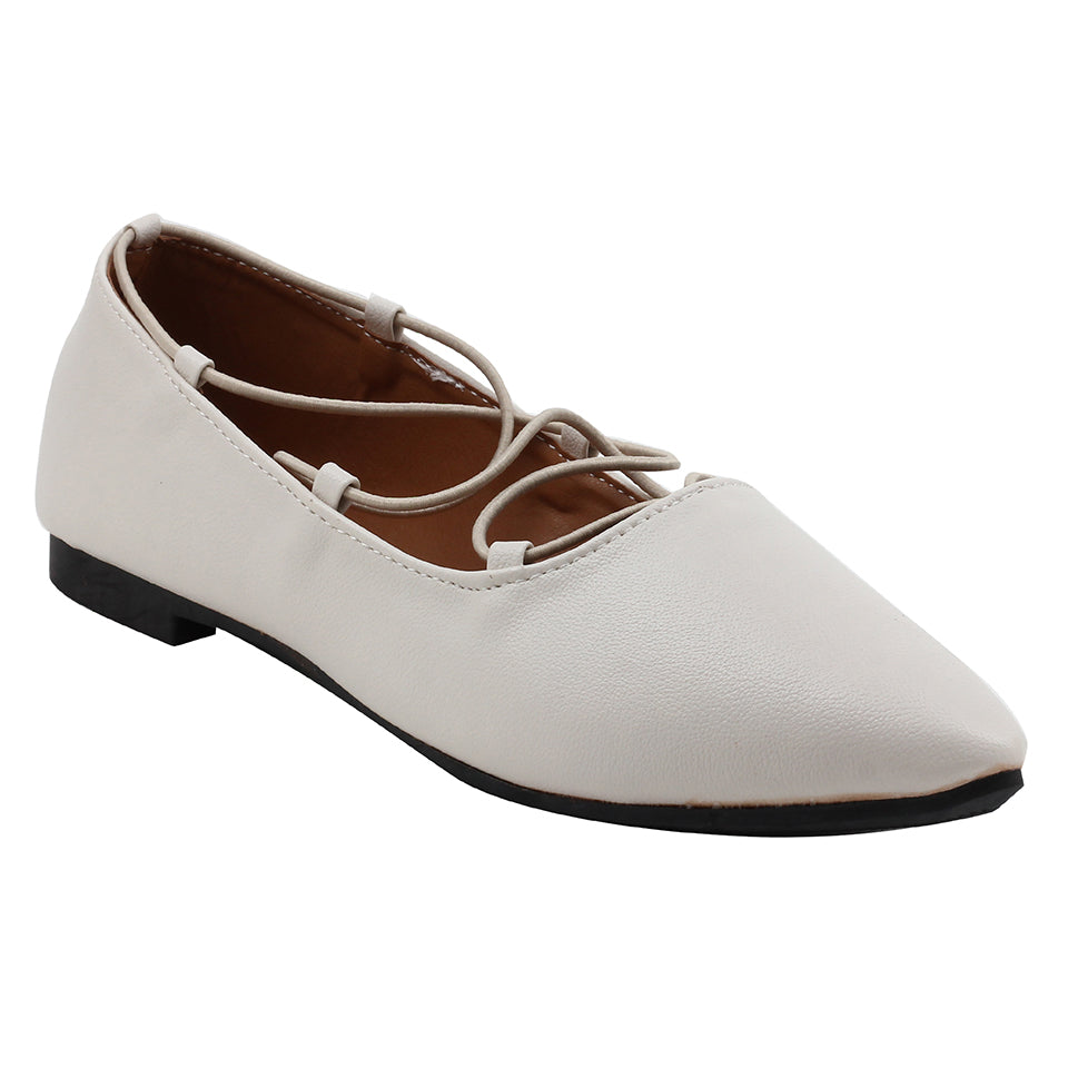 Beige Artificial Leather Bellies - SB-18127