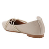 Beige Artificial Leather Bellies - SB-18128