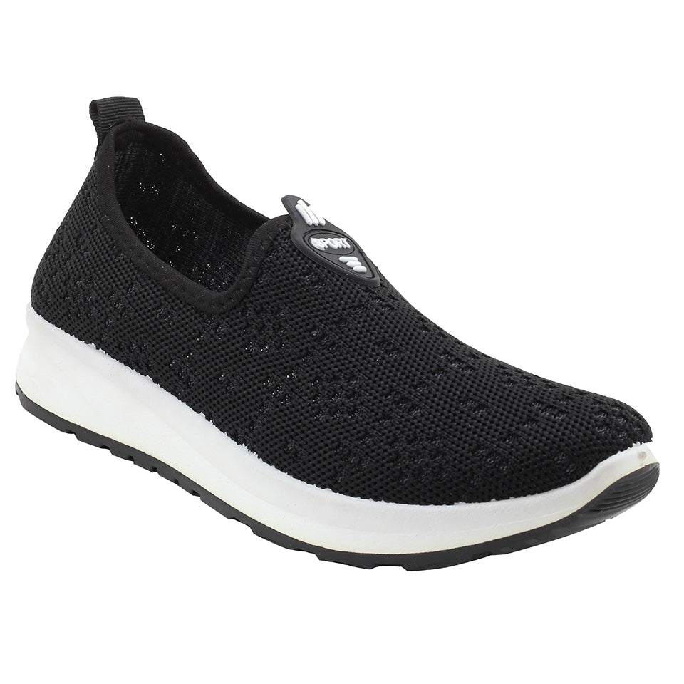 Black Fabric Sport Shoes - SB-18133