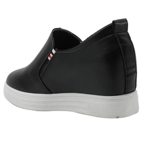 Black Artificial Leather Sneakers - SB-18135