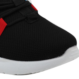 Black Mesh Sport Shoes - SB-18143