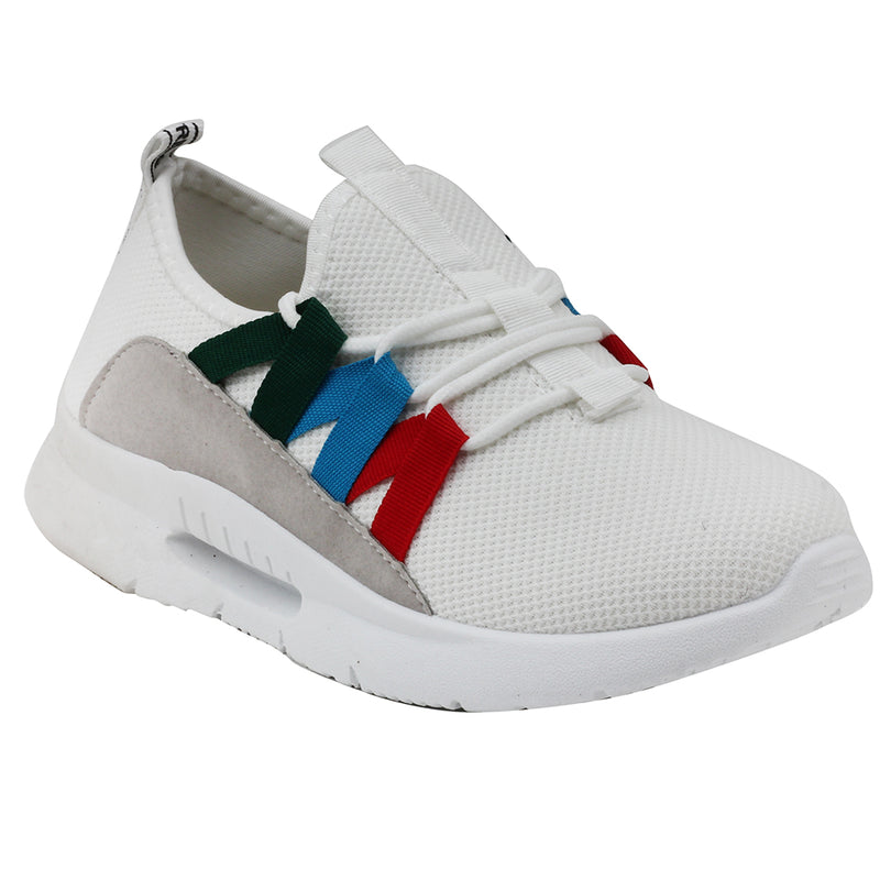 White Mesh Sport Shoes - SB-18143