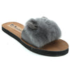 Grey Artificial Leather Flats - SB-18149