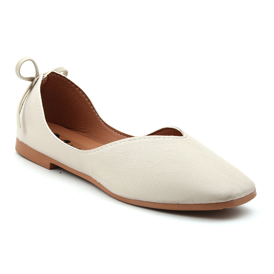 Beige Artificial Leather Bellies - SB-18150