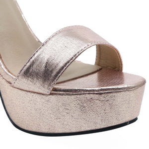 Shuberry SB-19005 Satin Champagne Heels For Women