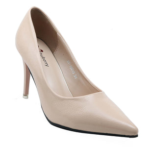 Shuberry SB-19019 Patent Beige Pumps For Women