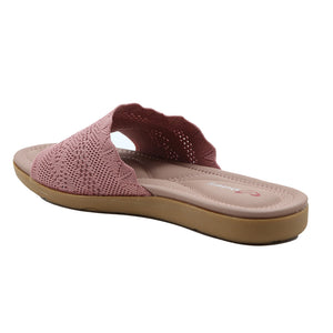 Shuberry SB-19055 Fabric Pink Flats For Women