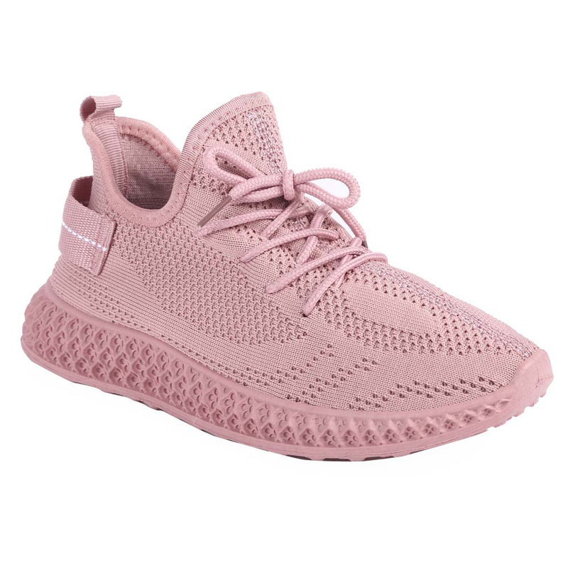 Shuberry SB-19061 Fabric Pink Colour Sneaker For Women