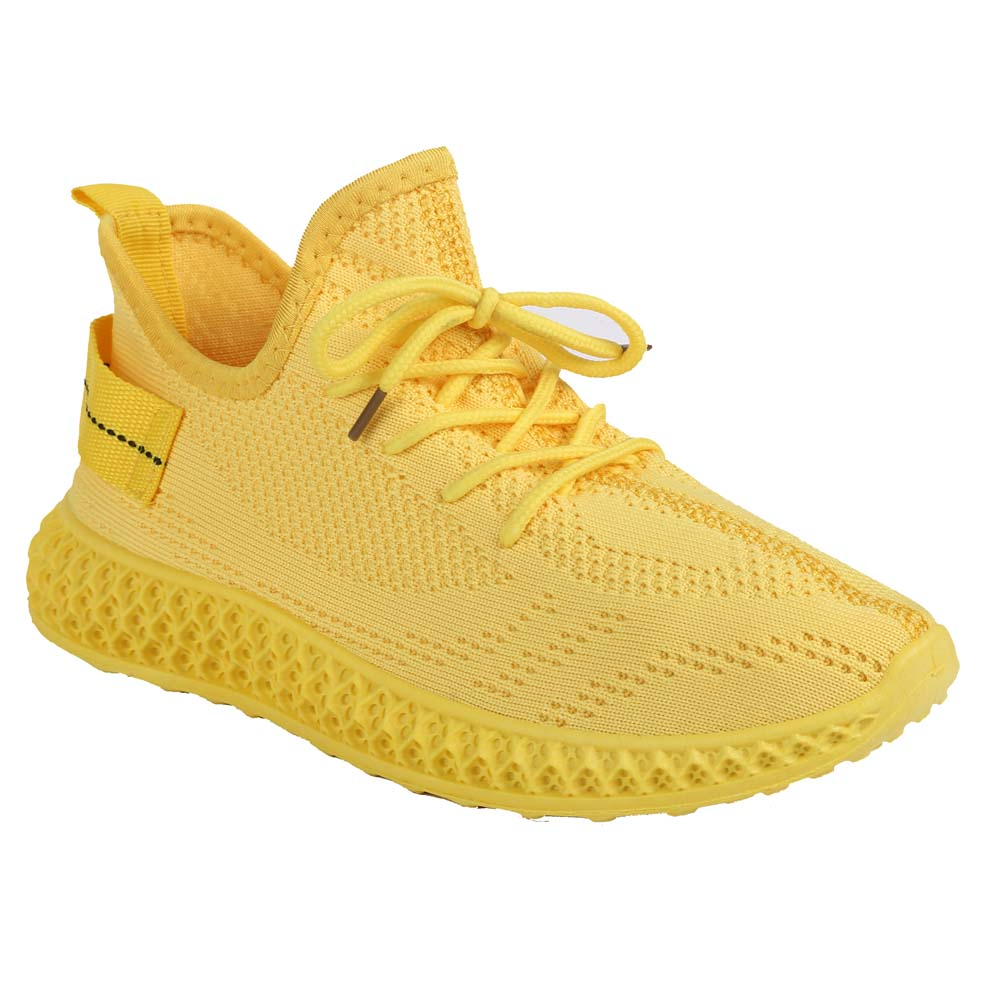 Shuberry SB-19061 Fabric Yellow Colour Sneaker For Women