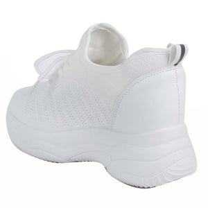 Shuberry SB-19066 Mesh White Colour Chunky Sole Sneaker For Women