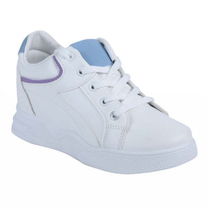 Shuberry SB-19067 Artificial Leather White & Blue Colour Sneaker For Women