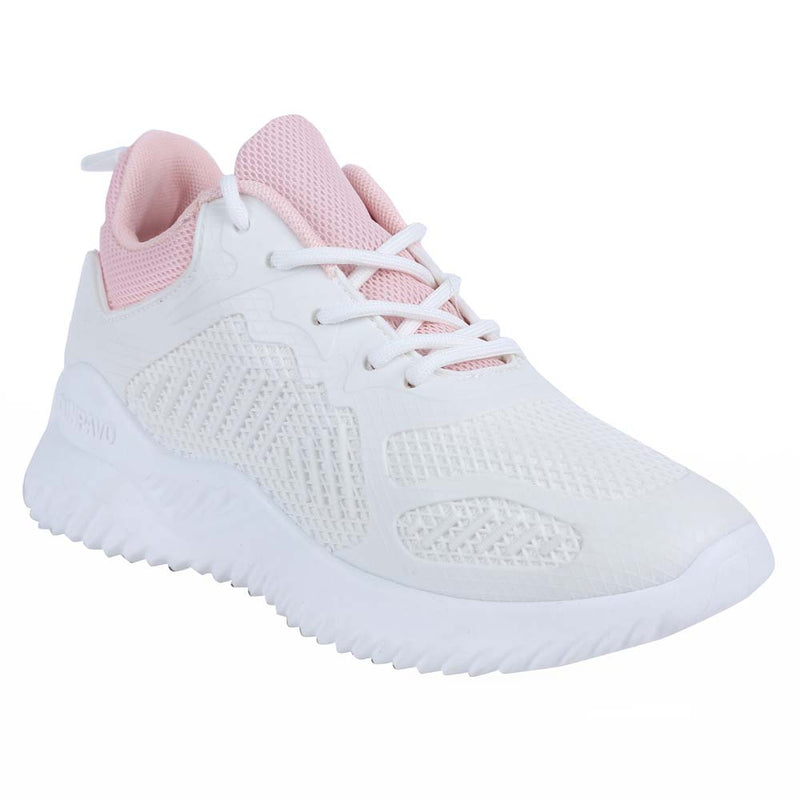 Shuberry SB-19069 Mesh White & Pink Colour Running Shoe For Women