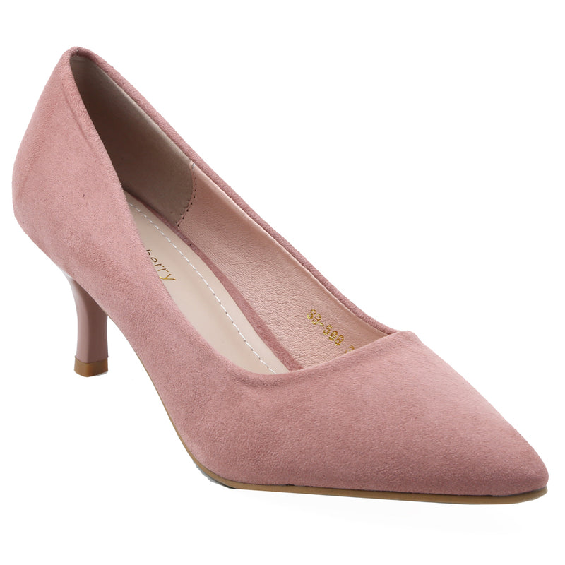 Shuberry SB-19072 Suede Pink Pumps For Women