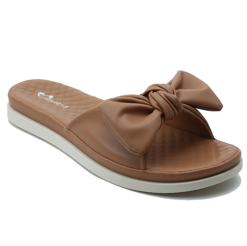 Shuberry SB-19076 Faux Leather Tan Sandal For Women