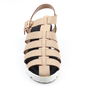 Beige Faux Leather Heels SB-245