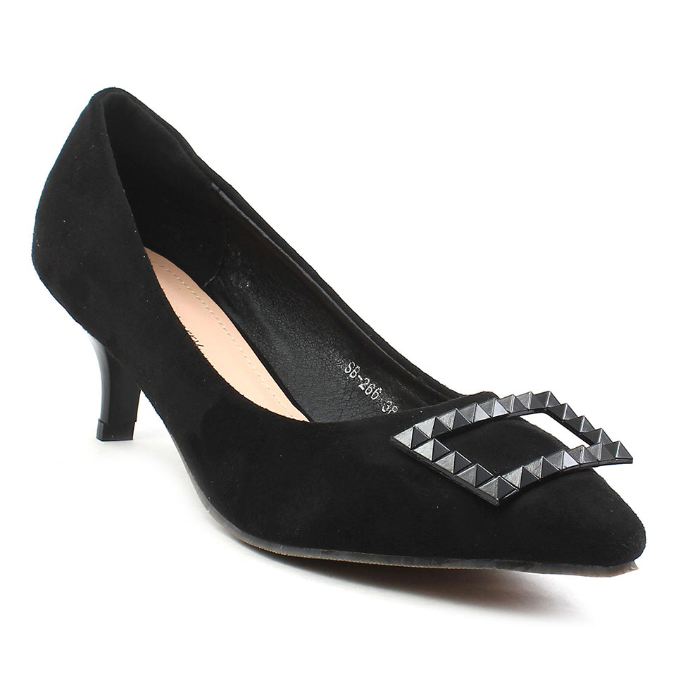 Black Suede Pumps SB-266