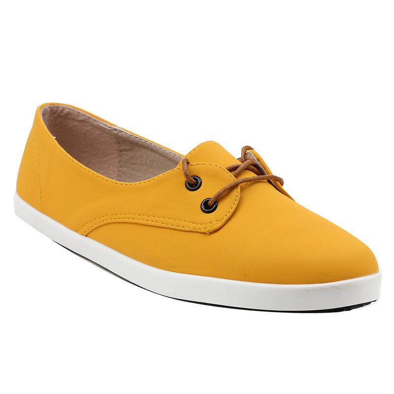 Yellow Synthetic Sneaker - SB-278