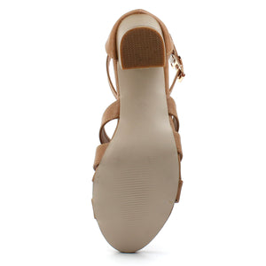 Tan Artificial Leather Heel SB-400