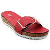 Red Artificial Leather Sandal SB-405