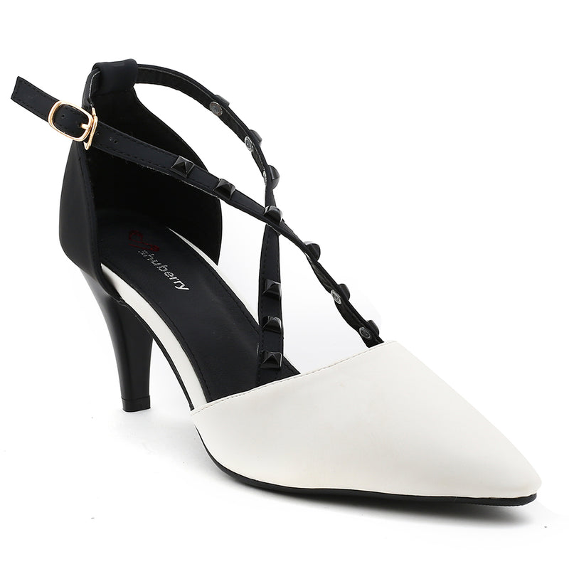 Whiteandblack Artificial Leather Heels SB-497