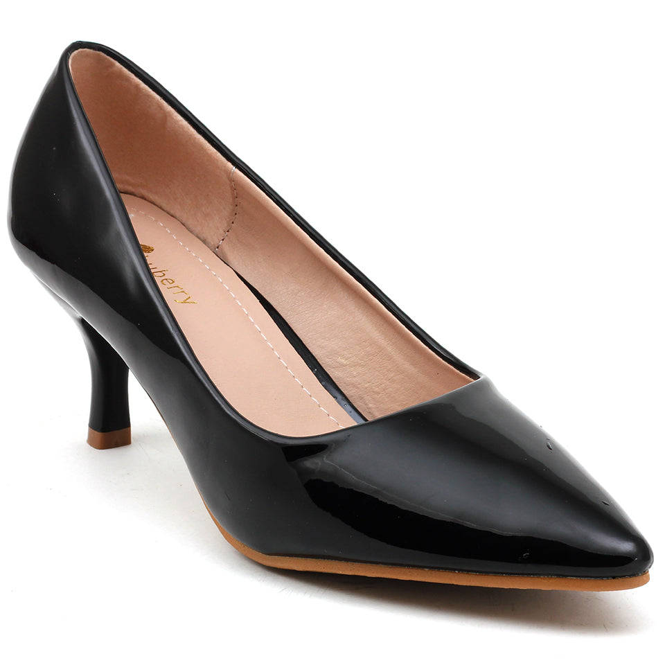 Black Patent Pumps - SB-508