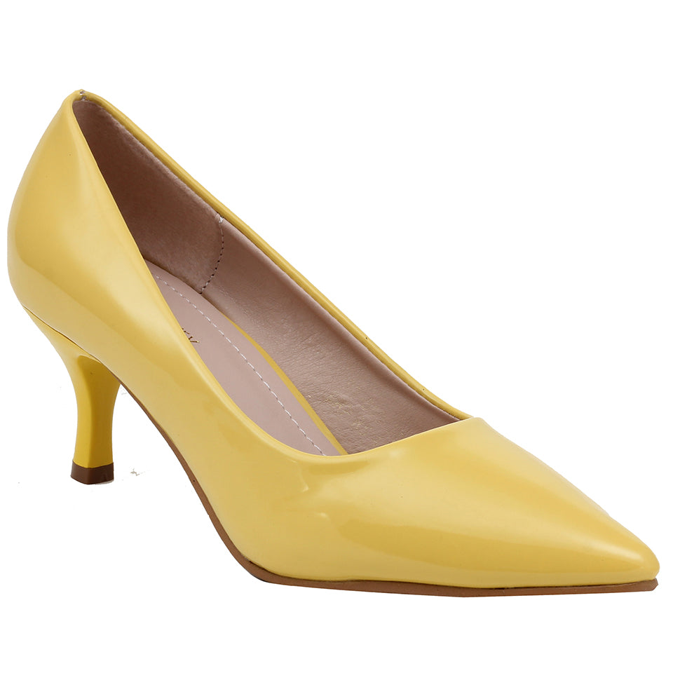 Yellow Patent Pumps - SB-508